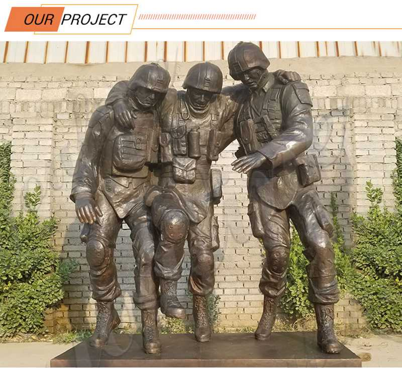 Large Monument Bronze Soldier Statue for Sale