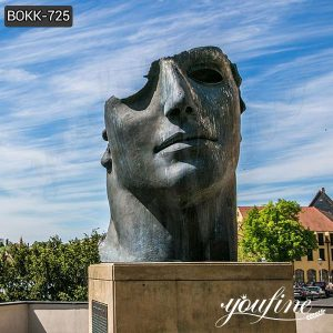 Modern Large Bronze Face Sculpture by Igor Mitoraj for Sale BOKK-725