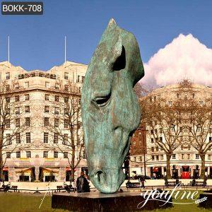 Custom Made Antique Large Bronze Horse Head Sculpture for Sale BOKK-708