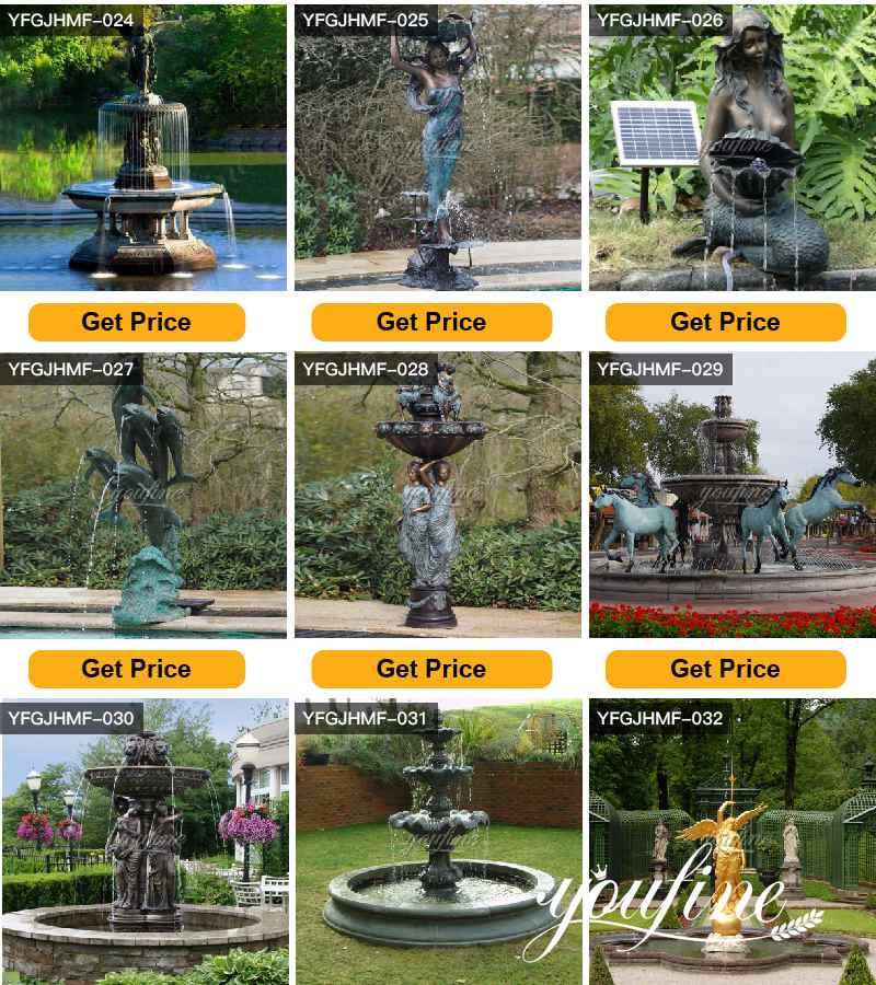 Antique Bronze Fountain Outdoor Garden Park Decor for Sale