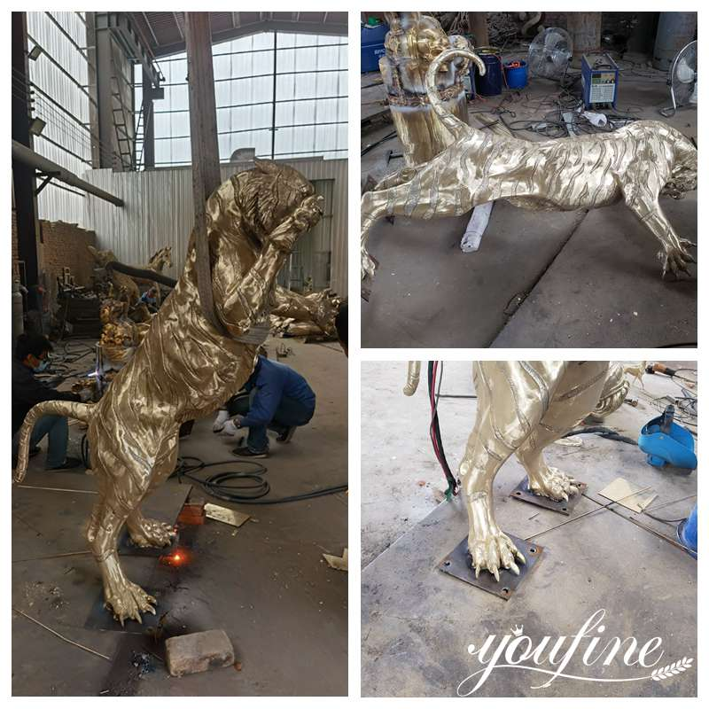 Bronze Tiger Statues Garden Decor for Sale