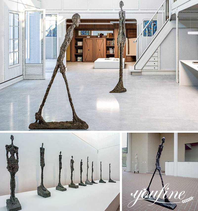 Famous Life Size Giacometti Sculpture for Sale