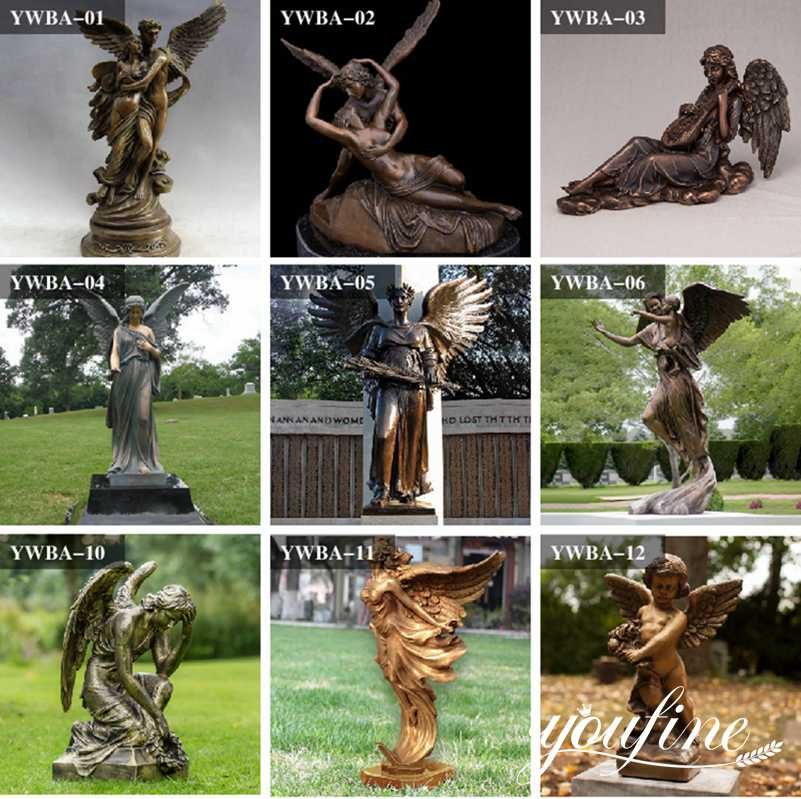 Grand Hotel Life Size Bronze Garden Angel Statue