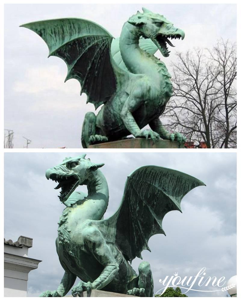 House Guardian Bronze Dragon Statue form Dragon Bridge for Sale