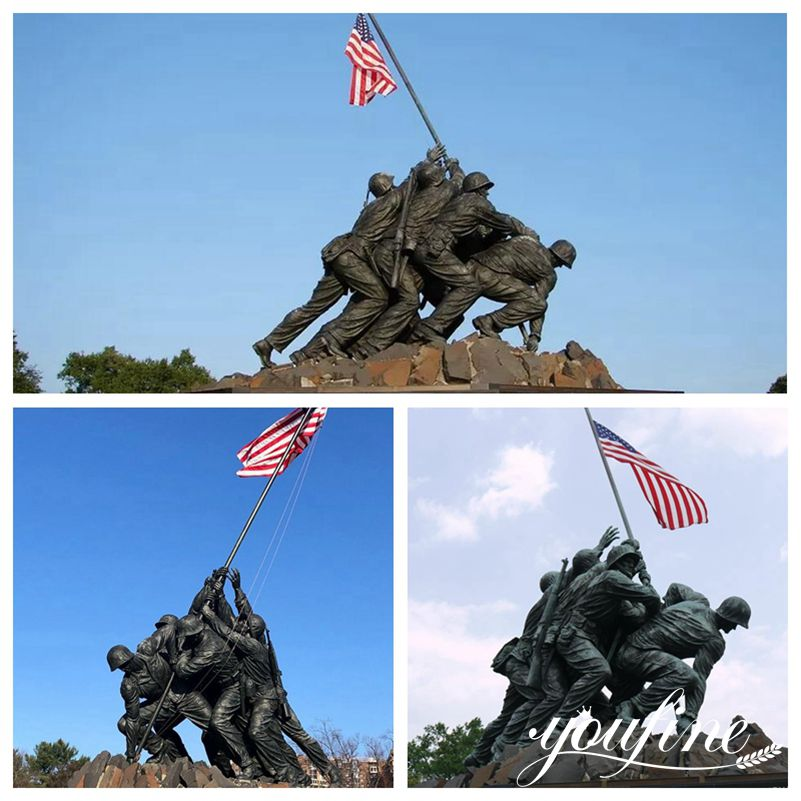 Large Bronze US Marine Corps Memorial for Sale