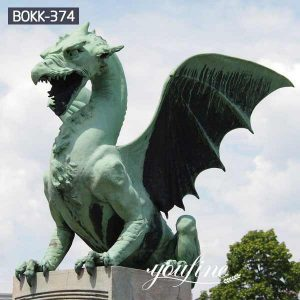 Large House Guardian Bronze Dragon Statue form Dragon Bridge for Sale BOKK-374