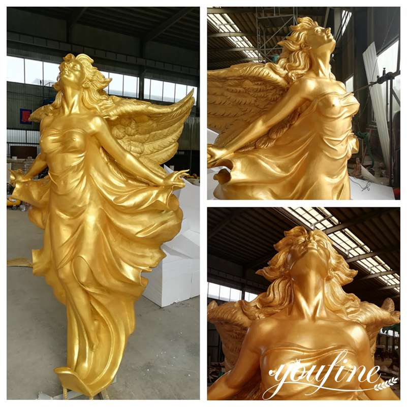 Life Size Bronze Garden Angel Statue for Sale