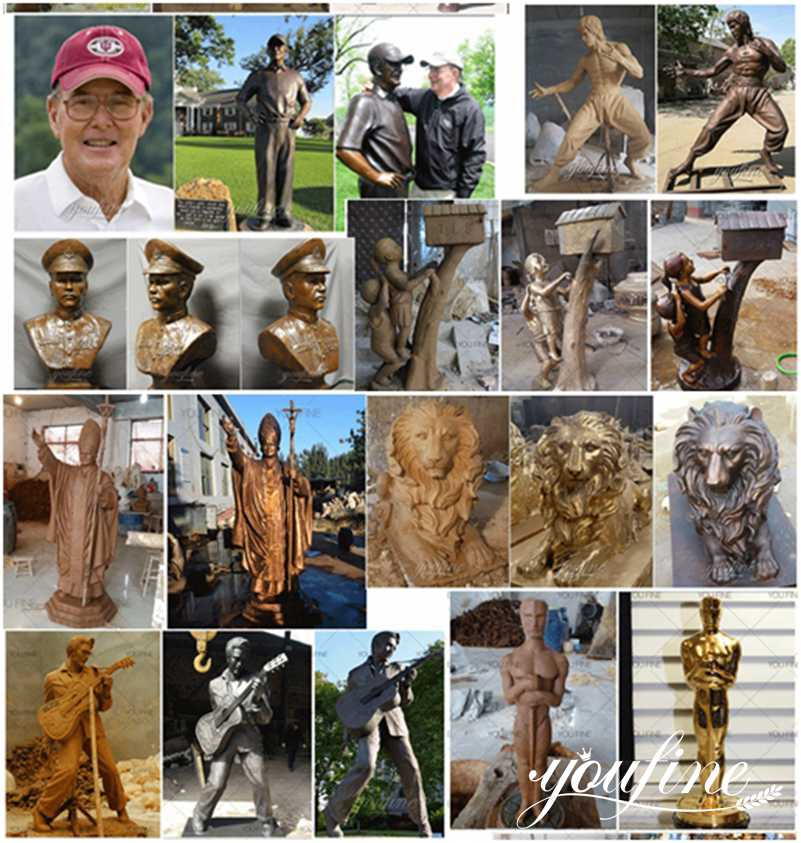 Life Size Bronze Player and Football Statue for Sale