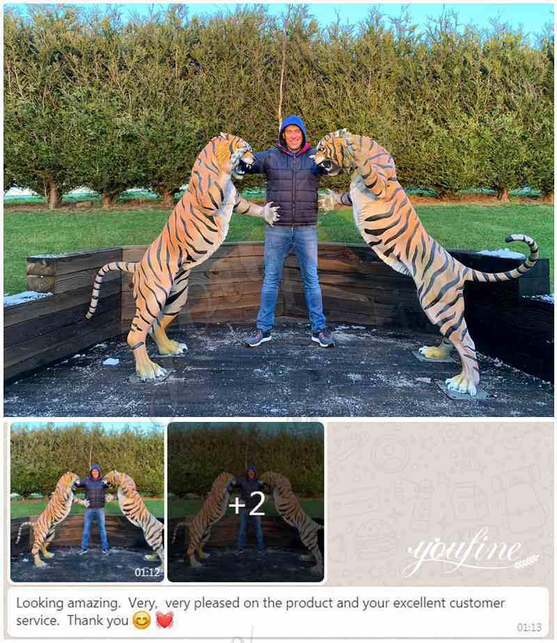Outdoor Bronze Tiger Statues Garden Decor for Sale