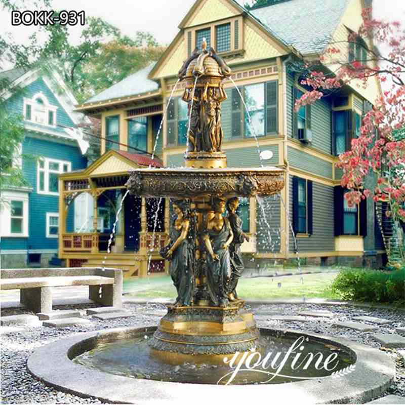 Outdoor Villa Garden Antique Bronze Statues Fountain Decor for Sale