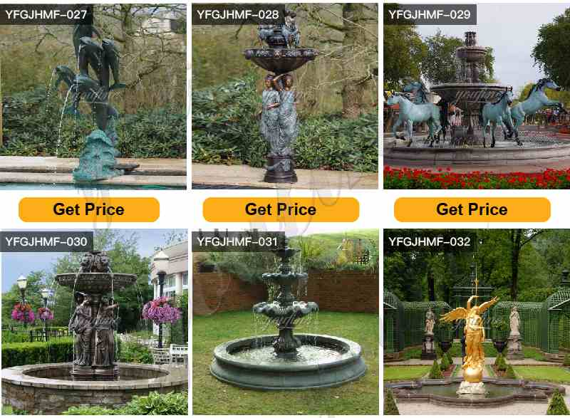Villa Garden Antique Bronze Statues Fountain Decor for Sale