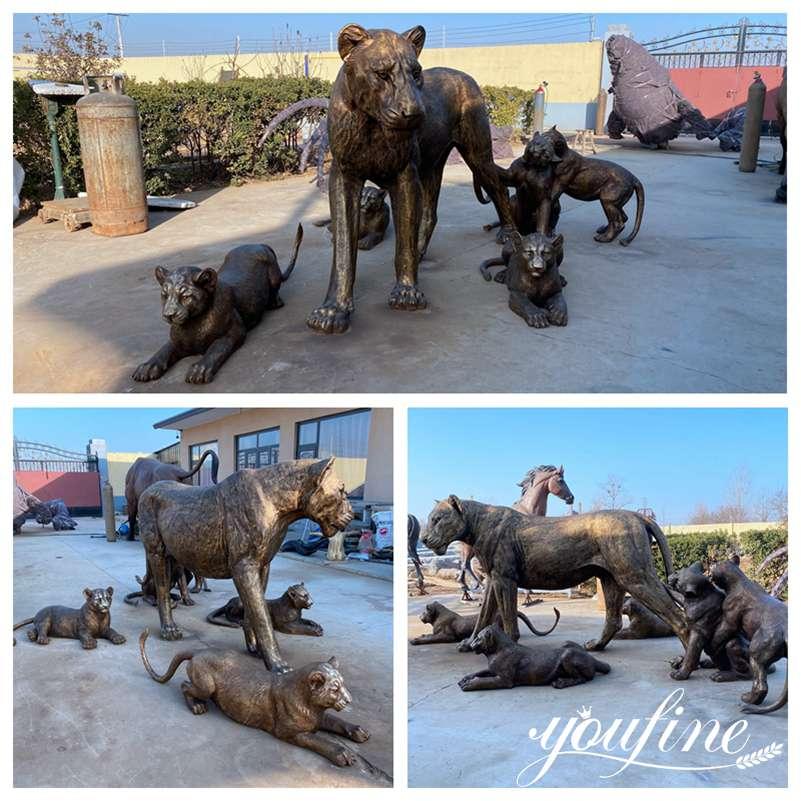 large bronze animal lion statue