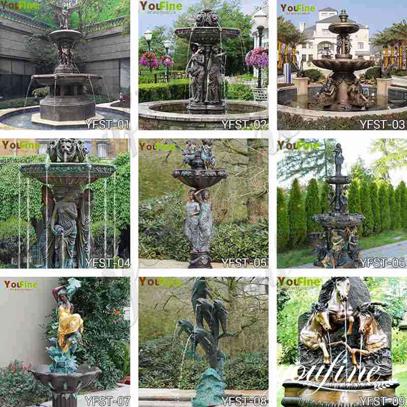 outdoor bronze fountains for sale