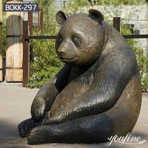 Giant Outdoor Bronze Panda Bear Statue For Sale BOKK-297