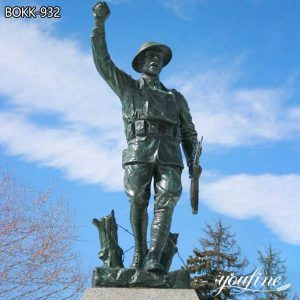 Bronze Soldier Statue Monument Custom Made Large Size for Sale BOKK-932