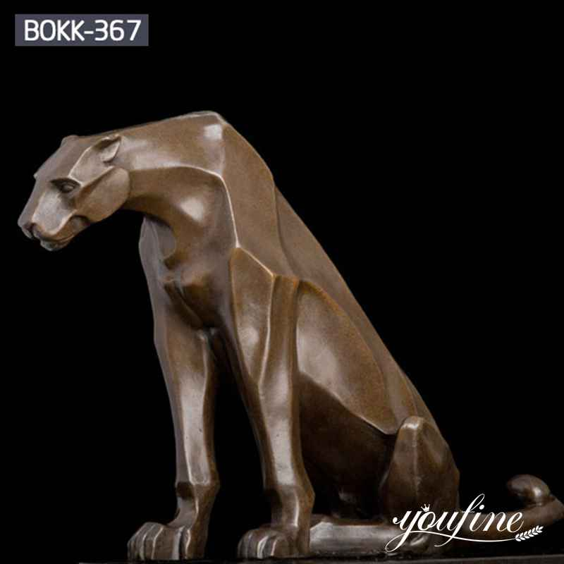 Leopard Bronze Sculpture Zoo Garden Decoration for Sale