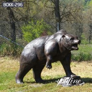 Life Size Bronze Bear Statue Outdoor Zoo Garden Decor for Sale BOKK-296