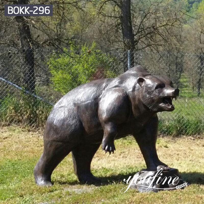 Life Size Bronze Bear Statue Outdoor Zoo Garden Decor for Sale
