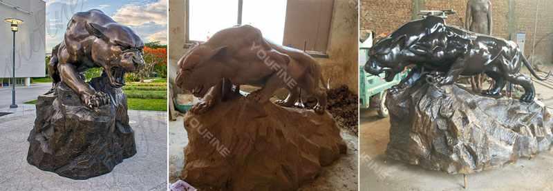 Life Size Bronze Leopard Statue School Garden Decor for Sale