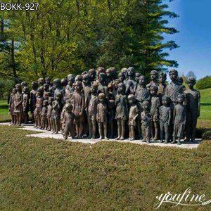Large Bronze Monument Children Statue World War II Supply BOKK-927