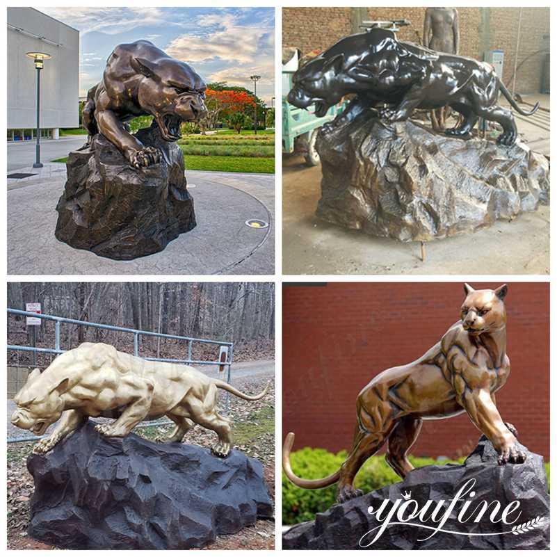 bronze leopard statue