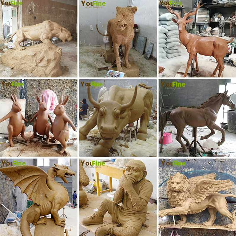 clay model statue