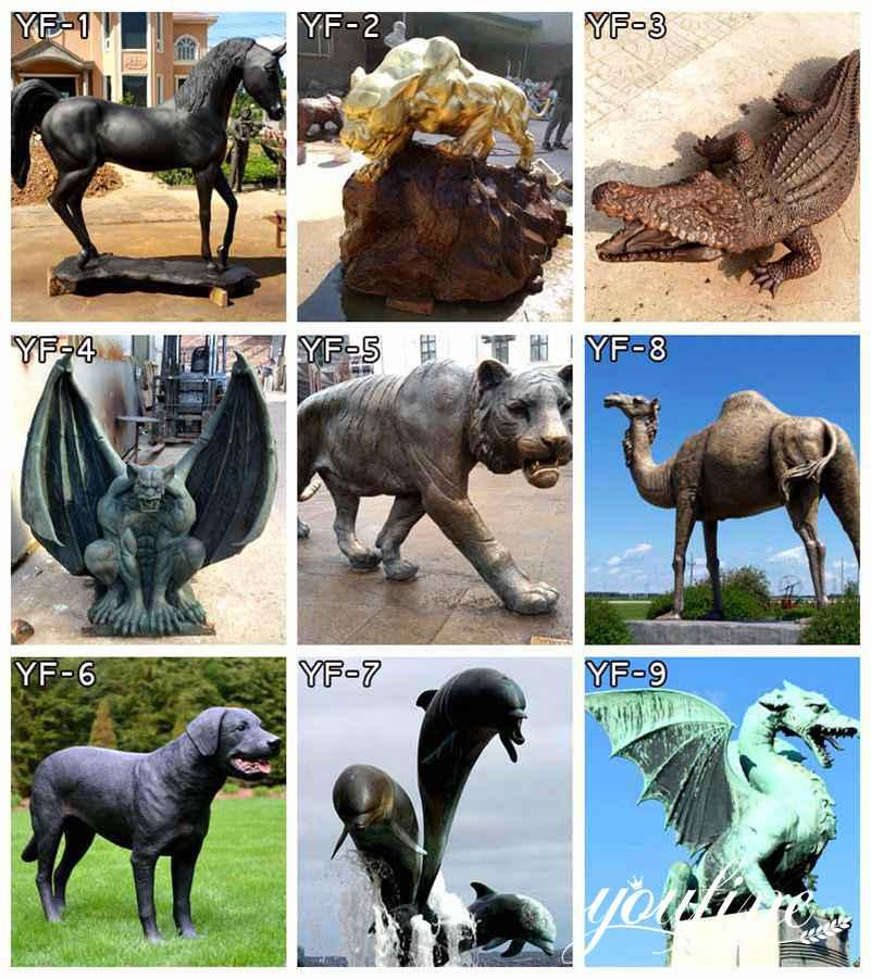 garden animal bronze statue decoration