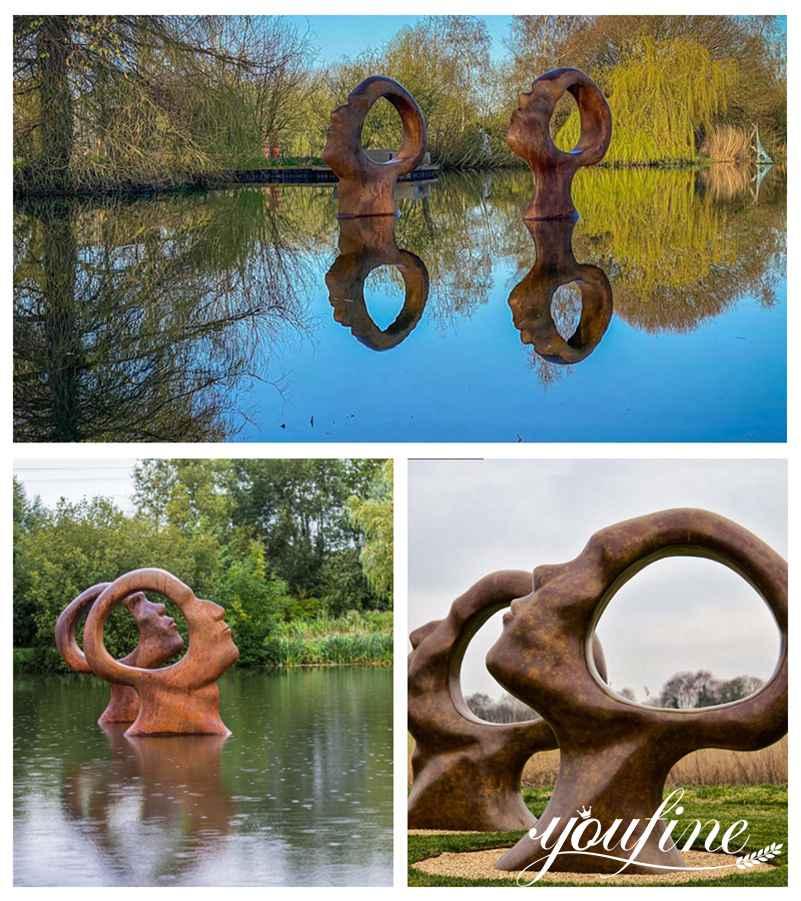 modern abstract bronze sculpture