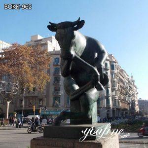 Large Thinking Bull Bronze Statue for Garden Decor for sale BOKK-962