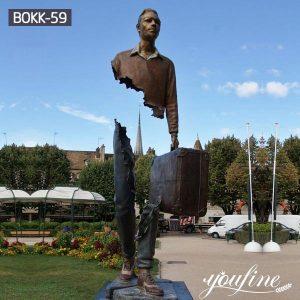 Life Size Bruno Catalano Traveller Bronze Statue Hotel Square for Sale BOKK-59
