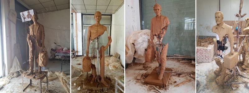 Traveller Bronze Statue