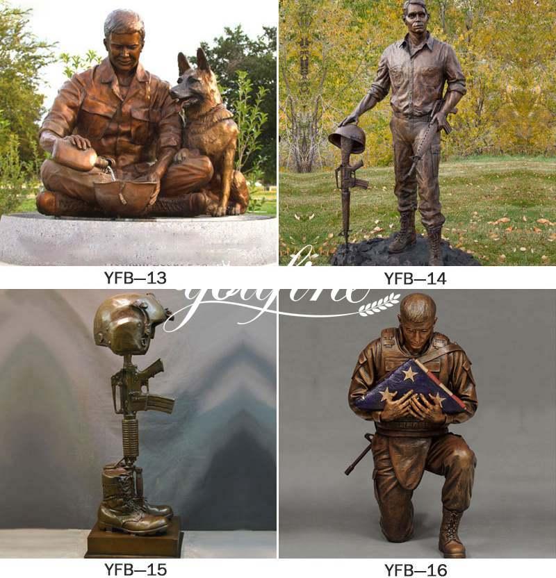 Bronze Memorial Soldier