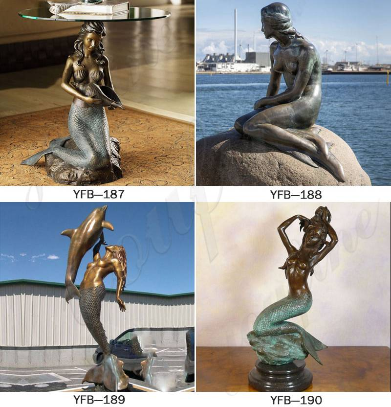 Bronze Mermaid Statue