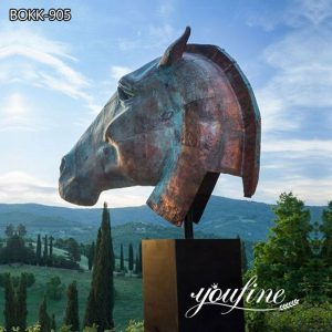 Outdoor Large Bronze Horse Head Statues for Sale BOKK-905