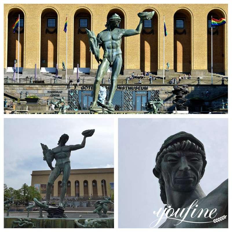 Poseidon Statue by Carl Milles