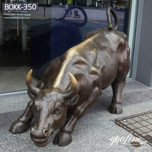 Wall Street Decoration Large Bronze Bull Statue for Sale BOKK-350