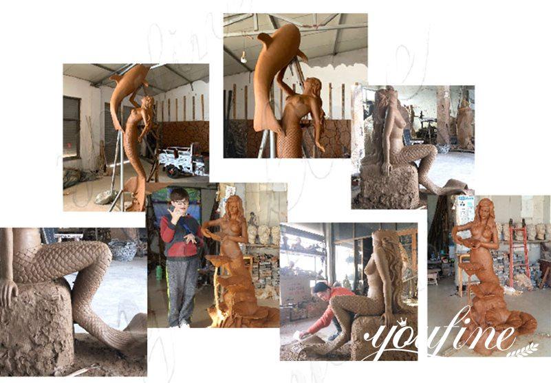 life size mermaid statue