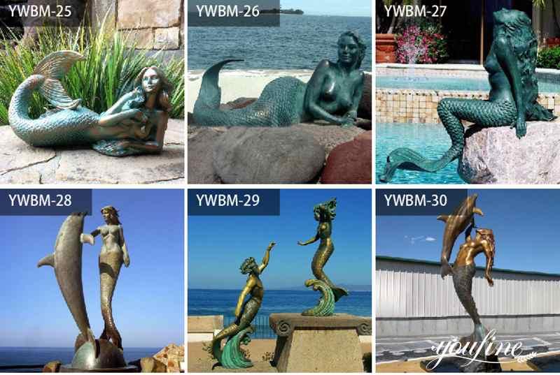 outdoor mermaid statue