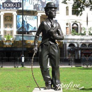 Life Size Bronze Charlie Chaplin Statue Custom Replica for Sale BOKK-11