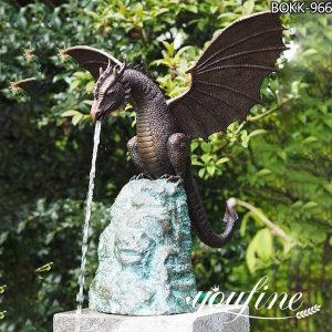Life Size Bronze dragon Fountain Garden Decoration for Sale BOKK-966