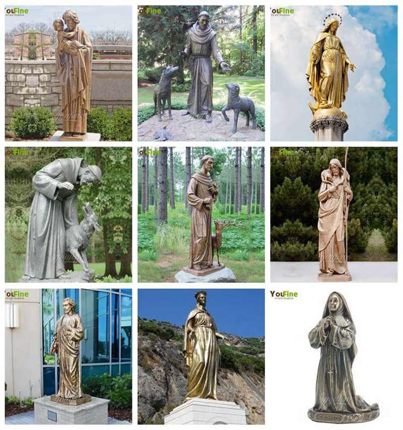 Bronze St Francis Statue