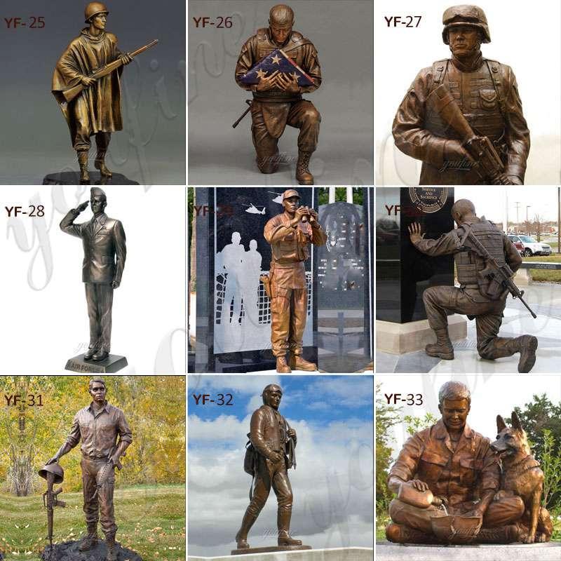 Bronze Soldier and Dog sculpture