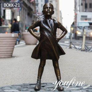 Hot Sale Bronze Fearless Girl Statue Custom Replica for Sale BOKK-21