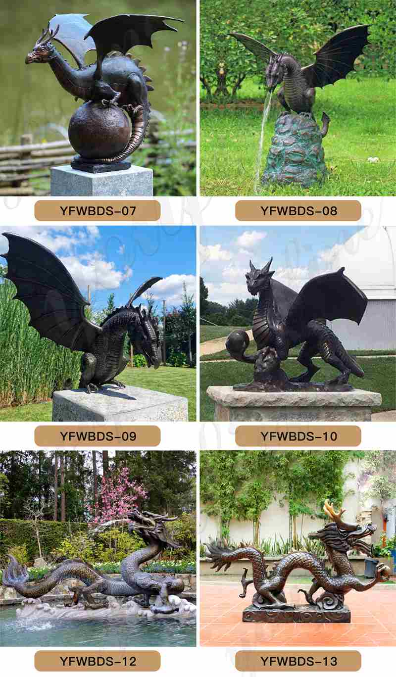 bronze dragon fountain