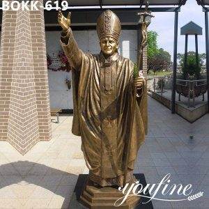 Bronze John Paul II Sculpture Church Decoration for Sale BOKK-619