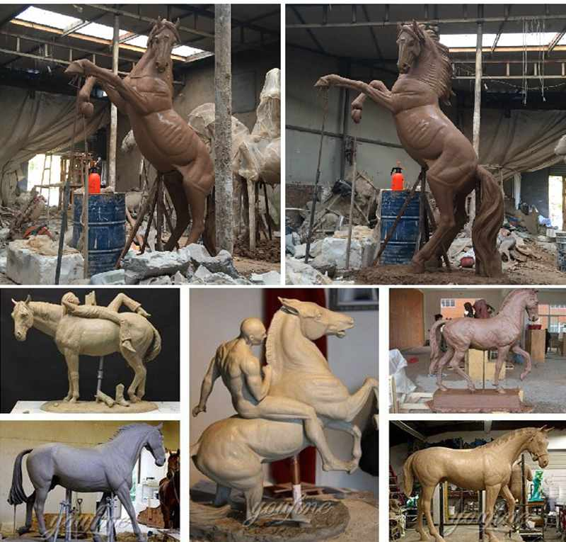 large bronze horse statues