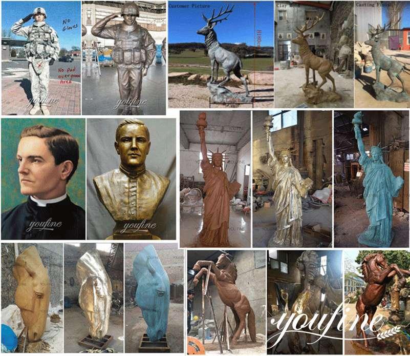 outdoor bronze statue
