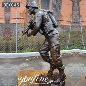 Customized Bronze Soldier Statue Outdoor Standing for Sale BOKK-46