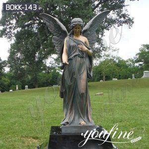 Life Size Bronze Angel Sculpture for Garden Decoration BOKK-143