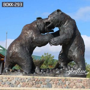Large Casting Bronze Grizzly Bear Statue for Sale BOKK-293